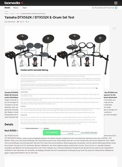 Bonedo.de Yamaha DTX562K / DTX532K
