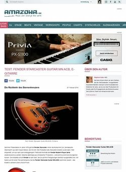 Amazona.de Test: Fender Starcaster Guitar MN ACB, E-Gitarre