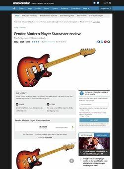 MusicRadar.com Fender Modern Player Starcaster