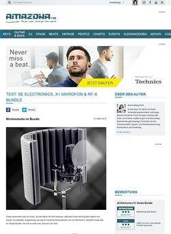 Amazona.de Test: sE Electronics, X1 Studio Bundle