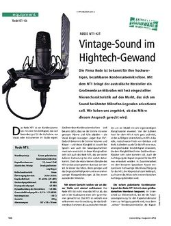 Recording Magazin Rode NT1-Kit
