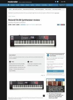 MusicRadar.com Roland FA-08 Synthesizer