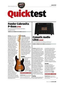 Guitarist Cymatic Audio LR16