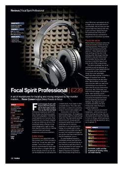 Future Music Focal Spirit Professional