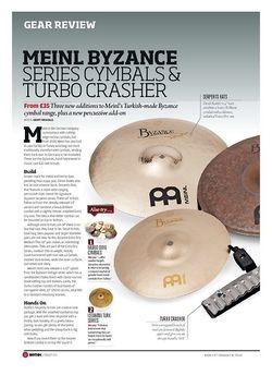 Rhythm Meinl Byzance Series Cymbals and Turbo Crasher