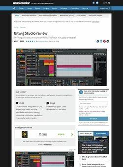 MusicRadar.com Bitwig Studio
