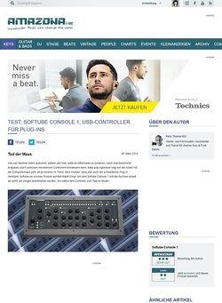 Amazona.de Test: Softube Console 1, USB-Controller für Plug-ins