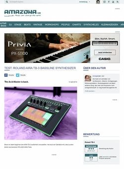 Amazona.de Test: Roland Aira TB-3, Bass Synthesizer & Groovebox