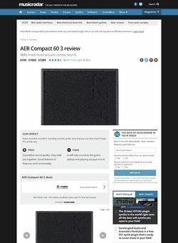 MusicRadar.com AER Compact 60 3