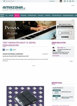 Amazona.de Test: Yamaha DTX Multi 12, Digital Percussion Pad