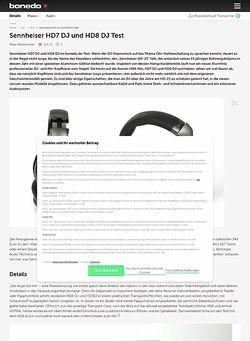 Bonedo.de Sennheiser HD7 DJ und HD8 DJ
