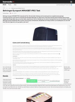 Bonedo.de Behringer Europort MPA40BT-PRO