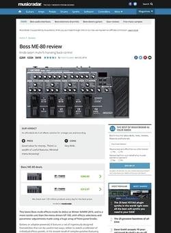 MusicRadar.com Boss ME-80