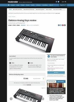 MusicRadar.com Elektron Analog Keys