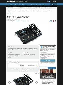 MusicRadar.com DigiTech RP360 XP