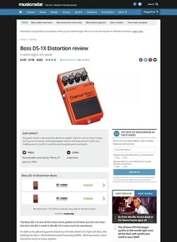MusicRadar.com Boss DS-1X Distortion