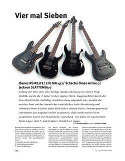 Gitarre & Bass 7saiter im Vergleich! Ibanez, Schecter, Ltd, Jackson