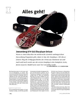 Gitarre & Bass Duesenberg DTV-DLX Starplayer Deluxe, E-Gitarre