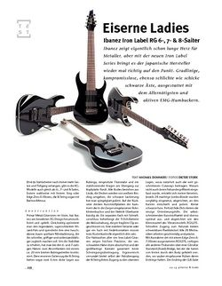 Gitarre & Bass Ibanez Ibanez Iron Label RG 6-, 7- & 8-Saiter