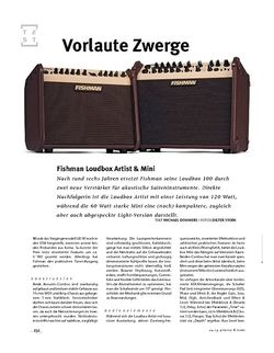 Gitarre & Bass Fishman Loudbox Artist + Mini, Acoustic-Amps