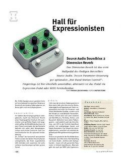 Gitarre & Bass Source Audio Soundblox 2 Dimension Reverb