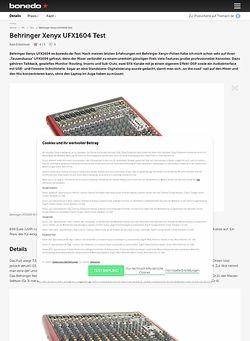 Bonedo.de Behringer Xenyx UFX1604