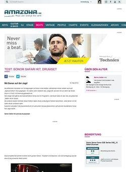 Amazona.de Test: Sonor Safari Kit, Drumset