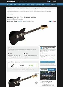 MusicRadar.com Fender Jim Root Jazzmaster