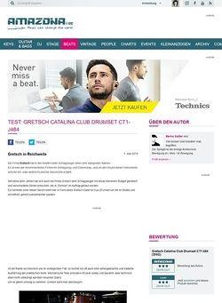 Amazona.de Test: Gretsch Catalina Club Drumset CT1-J484