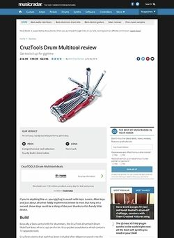 MusicRadar.com CruzTools Drum Multitool
