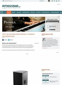Amazona.de Test: dB Technologies Arena 15, passive Fullrange Box