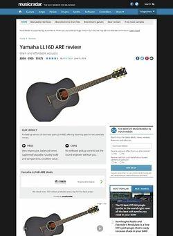 MusicRadar.com Yamaha LL16D ARE