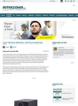 Amazona.de Test: Mackie MR6 MK3, Nahfeld Monitor