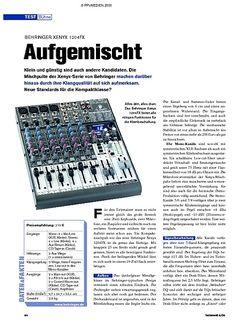 Tastenwelt Test: Behringer Xenyx 1204FX - Aufgemischt