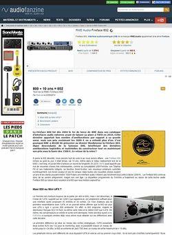 Audiofanzine.com RME Audio Fireface 802