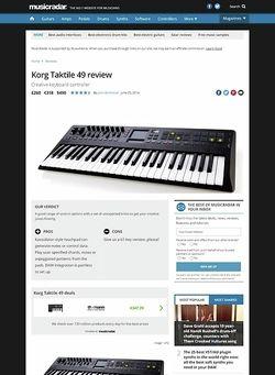 MusicRadar.com Korg Taktile 49