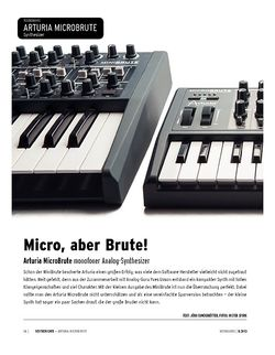 Keyboards Arturia MicroBrute - monofoner Analog-Synthesizer