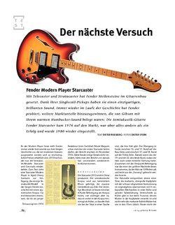 Gitarre & Bass Fender Modern Player Starcaster, E-Gitarre