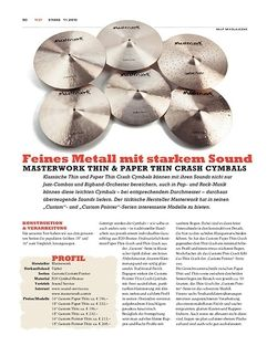 Sticks Masterwork Thin & Paper Thin Crash Cymbals