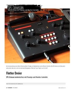 Sound & Recording SPL Crimson - Audiointerface mit Preamps und Monitor-Controller