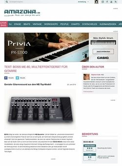 Amazona.de Test: Boss ME-80, Multieffektgerät für Gitarre