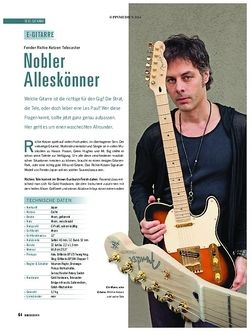 Soundcheck Fender Richie Kotzen Telecaster