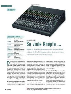 Soundcheck Mackie 1604 VLZ4
