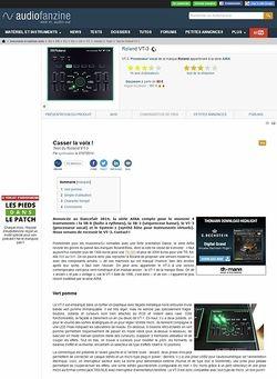 Audiofanzine.com Roland VT-3