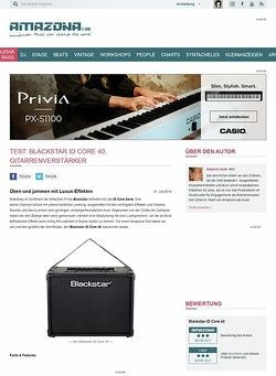 Amazona.de Test: Blackstar ID Core 40, Gitarrenverstärker