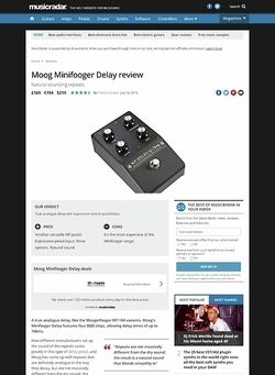 MusicRadar.com Moog Minifooger Delay