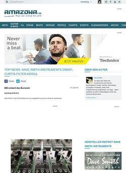 Amazona.de Top News: Dave Smith Instruments DSM01, Curtis Filter-Modul