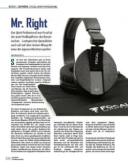Professional Audio Focal Spirit Professional