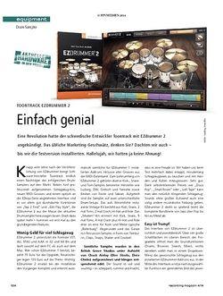 Recording Magazin Toontrack EZdrummer2