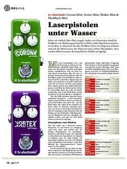 Guitar tc electronic Corona Mini, Vortex Mini, Shaker Mini & Flashback Mini